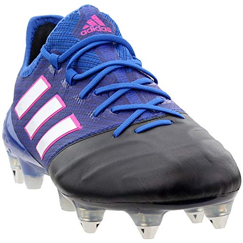 adidas Mens Ace 17.1 Leather Soft Ground Soccer Casual Cleats, Blue, 8.5