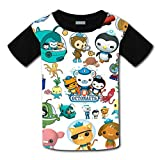 Aebipo Kid/Youth The Oc-to-nauts T-Shirts 3D Short Sleeve Tees for Girls Boys Black