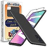 ebestStar - kompatibel mit Samsung Galaxy A71 Hülle SM-A715F Kohlenstoff Design Schutzhülle, TPU Handyhülle Flex Silikon Hülle, Schwarz + Panzerglas Schutzfolie [A71: 163.6 x 76 x 7.7mm, 6.7'']