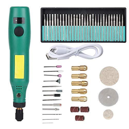 Cocoarm Elektrischer Schleifstift Elektrischer Frässtift Elektrischer Schleifstift Elektrischer Gravierstift, wiederaufladbare USB-Geschwindigkeitsregelung für das Nagellackieren von Schmuck