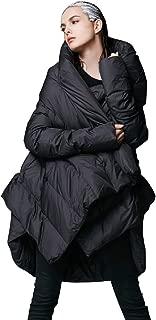 Women's Winter Down Coat Cloak Hooded Long Warm Jacket