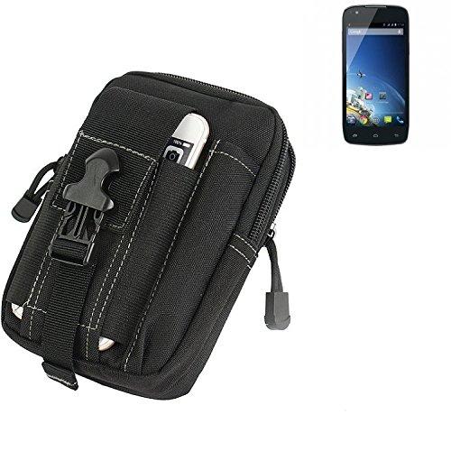 K-S-Trade Gürtel Tasche Für Kazam Thunder Q4.5 Gürteltasche Holster Schutzhülle Handy Hülle Smartphone Outdoor Handyhülle Schwarz Zusatzfächer