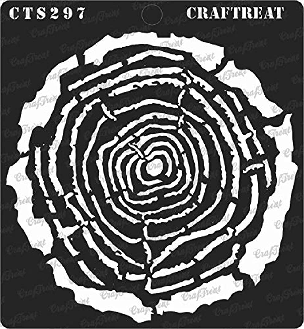 CrafTreat Stencil - Tree Rings | Reusable Painting Template for Journal, Home Decor, Crafting, DIY Albums, Scrapbook, Decoration and Printing on Paper, Floor, Wall, Tile, Fabric, Wood 6