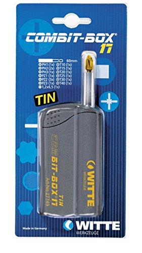 Witte 27776 Combit Box de 17 puntas de destornillador surtidas con revestimiento de Nitruro de Titanio