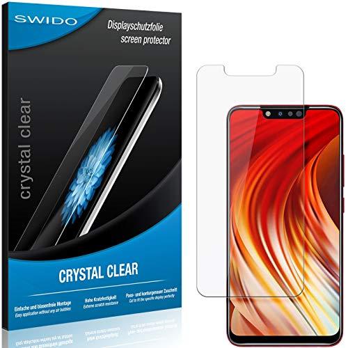 SWIDO Protector de Pantalla para Infinix Hot 7 Pro [Crystal Clear], Transparente, Invisible, Anti-Huella Dactilar - Película Protectora