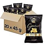 Pack 20 Bolsas de Lay's Patatas Fritas Gourmet, clásicas patatas crujientes, 20 x 45 g, 900 g