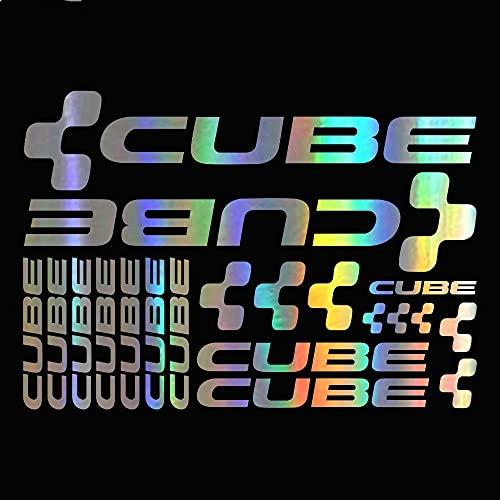 Pegatinas de coche creativas para coche, pegatinas de vinilo para bicicleta, accesorios impermeables, 17 x 17 cm (nombre del color: láser)