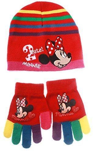 Bonnet et gants multicouleur enfant fille Minnie Rouge T54 (6/9ans)
