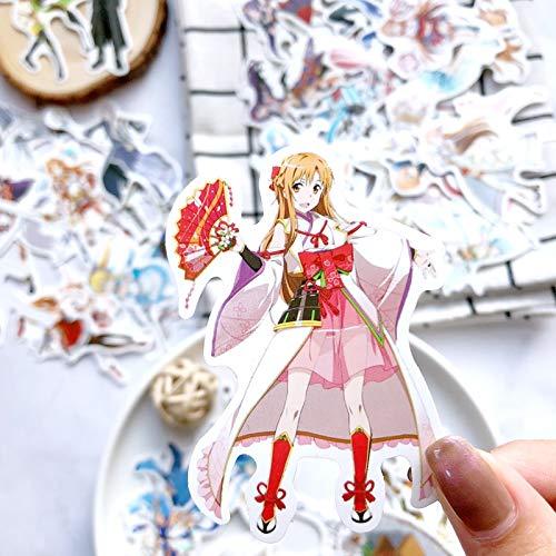 BLOUR Anime Sticker spel zwaard kunst online lijm sticker voor telefoon dagboek laptop scrapbooking 50st / Pack