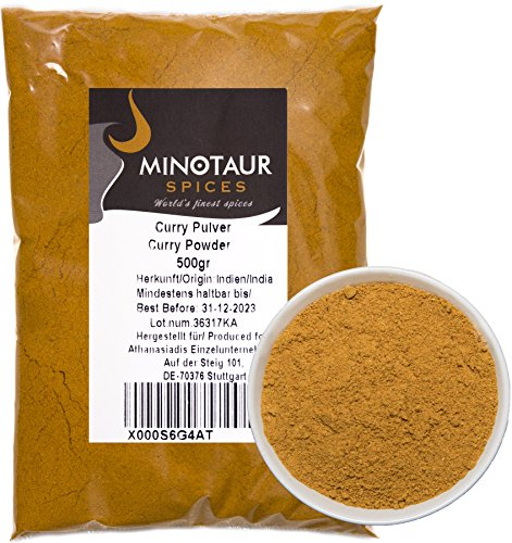 Minotaur Spices | Curry gemahlen, Currypulver mild, 2 X 500g (1 Kg)