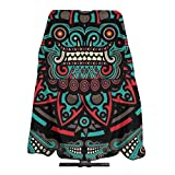 Professional Barber Cape Dyeing Salon Apron Extra Large Hair Dressing Gown Cape Waterproof Haircut Gown for Home Stylists, Hair Coloring, Grunge Mexican Sugar Skulls Day Of The Dead Dragon Totem