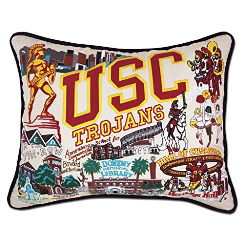 Catstudio University of Southern California (USC) Collegiate Embroidered Decorative Throw Pillow