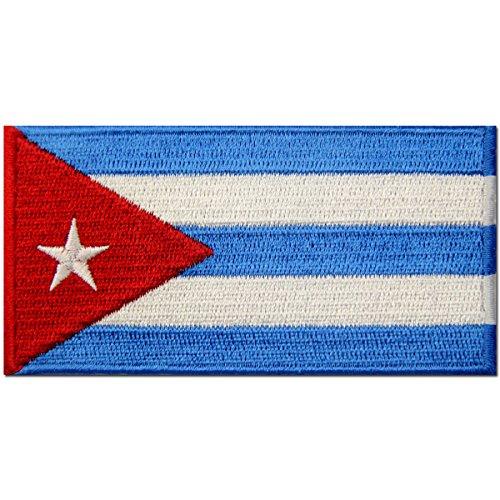 Bandera de Cuba Cubano Emblema nacional Parche Bordado de Aplicación con Plancha