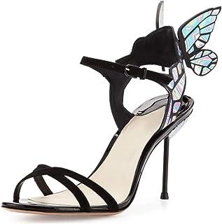 ce14924b Sandalias De Fantasía De Color Mariposa para Mujer, Tacón Alto, Alas De  Mariposa,