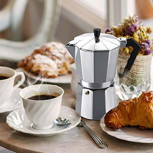 Vinekraft Cafetière Italienne Machine à Expresso Café Moka Cafetière, Fait 6 Tasses