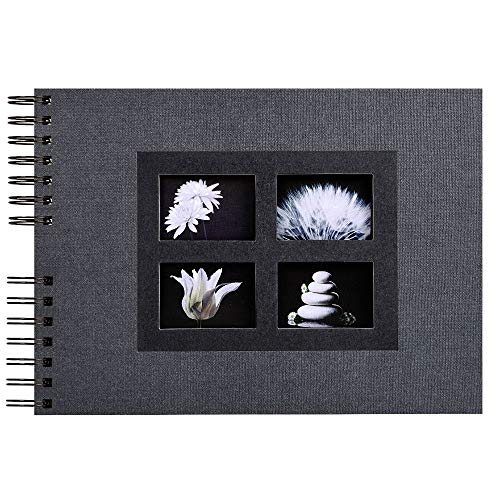 Exacompta 16241E Fotoalbum Passion mit Spiralbindung, 50 schwarze Seiten, 32 x 22cm, 1 Stück, Schwarz