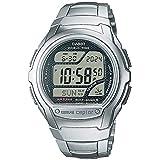 [カシオ] 腕時計 ウェーブセプター デジタルモデル 電波時計 MULTI BAND5 ELバックライトタイプ WV-58DJ-1AJF メンズ シルバー