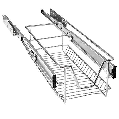 Aufun cajón telescópico extraíble estante para armario estante para cajones de cocina estante para cajones para dormitorio cesta extraíble para cocina (para armarios de 30 cm)
