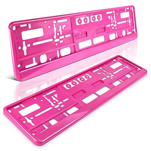 schildEVO 2 Kennzeichenhalter   Think PINK   Auto PKW Kfz   ROSA   Nummernschildhalter   Kennzeichenverstärker   DHL-Versand