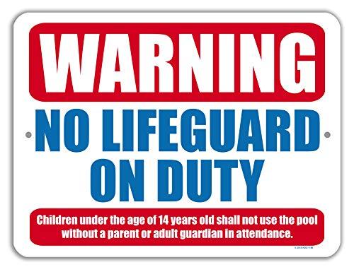 Pool Dekoration Warning