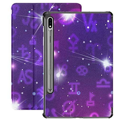 Funda para Galaxy Tab S7 Funda Delgada y Liviana con Soporte para Tableta Samsung Galaxy Tab S7 de 11 Pulgadas Sm-t870 Sm-t875 Sm-t878 2020 Release, una Gran cantidad de Signos astronómicos en el Col