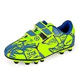 Zapatillas de Fútbol Niño Botas de Fútbo Niña Zapatos de Fútbol Atletismo Zapatos de Entrenamiento Profesionales Césped Artificial Football Shoes Training Unisex Verde 29