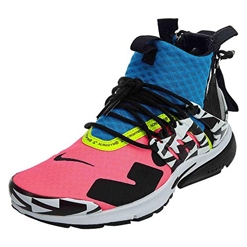 Nike Mens Air Presto Mid/Acronym Racer Pink/Black-Photo Blue Synthetic Size 5