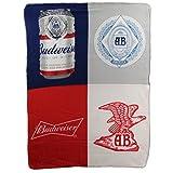 Northwest Beer Brand Fleece Throw Blankets 46' x 60' (Budweiser Crest)
