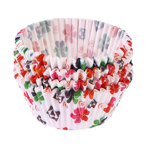 Cabilock 100Pcs Tazas para Hornear Revestimientos de Papel para Cupcakes Envoltorios de Cupcakes de Tamaño Estándar Coloridos