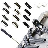 Cordones elásticos magnéticos sin cordones para zapatos, zapatillas unisex para niños, cordones para zapatos, el cordón perezoso es adecuado para zapatos unisex (6 pares)