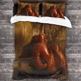Lichenran 3D Juego Funda De Diseño Personalizado,Boxing Gloves,Ropa de Cama Set 1 Edredón 2 Fundas de Almohada Microfibra jueg,220 * 230cm*1
