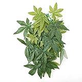 Mumusuki Plantas Artificiales Hojas Falsas Plástico Hierba Verde con lechón para Acuario...