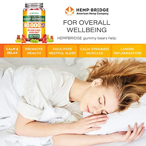 Premium Hemp Gummies - Safe and Natural - Made in USA - 15000MG Total, 125MG Each - Relaxing, Stress & Anxiety Relief - Special Blend - Rich in Vitamins B, E,Omega 3, 6, 9 & More