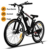 Hicient Electric Bike Electric Bicycle for Adult 26'' Electric Mountain Bike 250W Ebike 21 Speed Gear with Removable Lithium Battery and Battery Charger