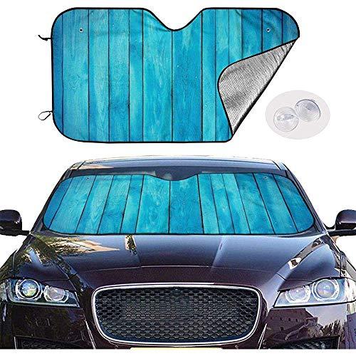 KDU Mode Auto Zonneschaduw, Zee Blauw Oude Houten Eiken Plank Gestreepte Houten Uvprotect Voertuig Raamschaduwen Voor Vrachtwagen Automotive Voertuig 70x130cm