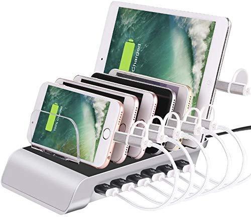 XYSQWZ Estación De Carga USB Concentrador Organizador De Escritorio con Base De Carga USB De 8 Puertos Cargador USB Rápido para Múltiples Dispositivos/Teléfonos Inteligentes/Tabletas/iPhone 8 / X /