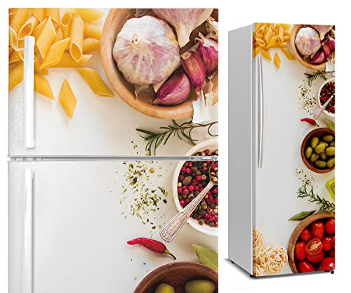 DON LETRA Vinilos para Neveras y Frigoríficos, 185x70cm, Decoración para Cocina, Vinilo Impermeable, VIN-NVR-03