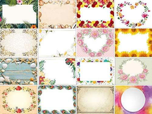 16 Gutscheine zum selbstausfüllen /Set mit 16 Gutschein-Karten oder Dankeskarten zum Selbst gestalten von Edition Colibri (11033-11048)