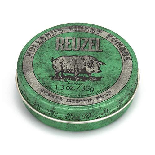 Reuzel - Green Grease Medium Hold Pomade - Funktioniert gut bei normalem bis dickem Haar - Kontrolliert das lockigste dickste und widerspenstigste Haar - Fördert & unterstützt die Feuchtigkeitsversorgung - 1.3 oz/35 g