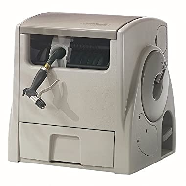Suncast PW100 Powerwind 100 Foot Capacity Automatic Rewind Garden Hose Reel