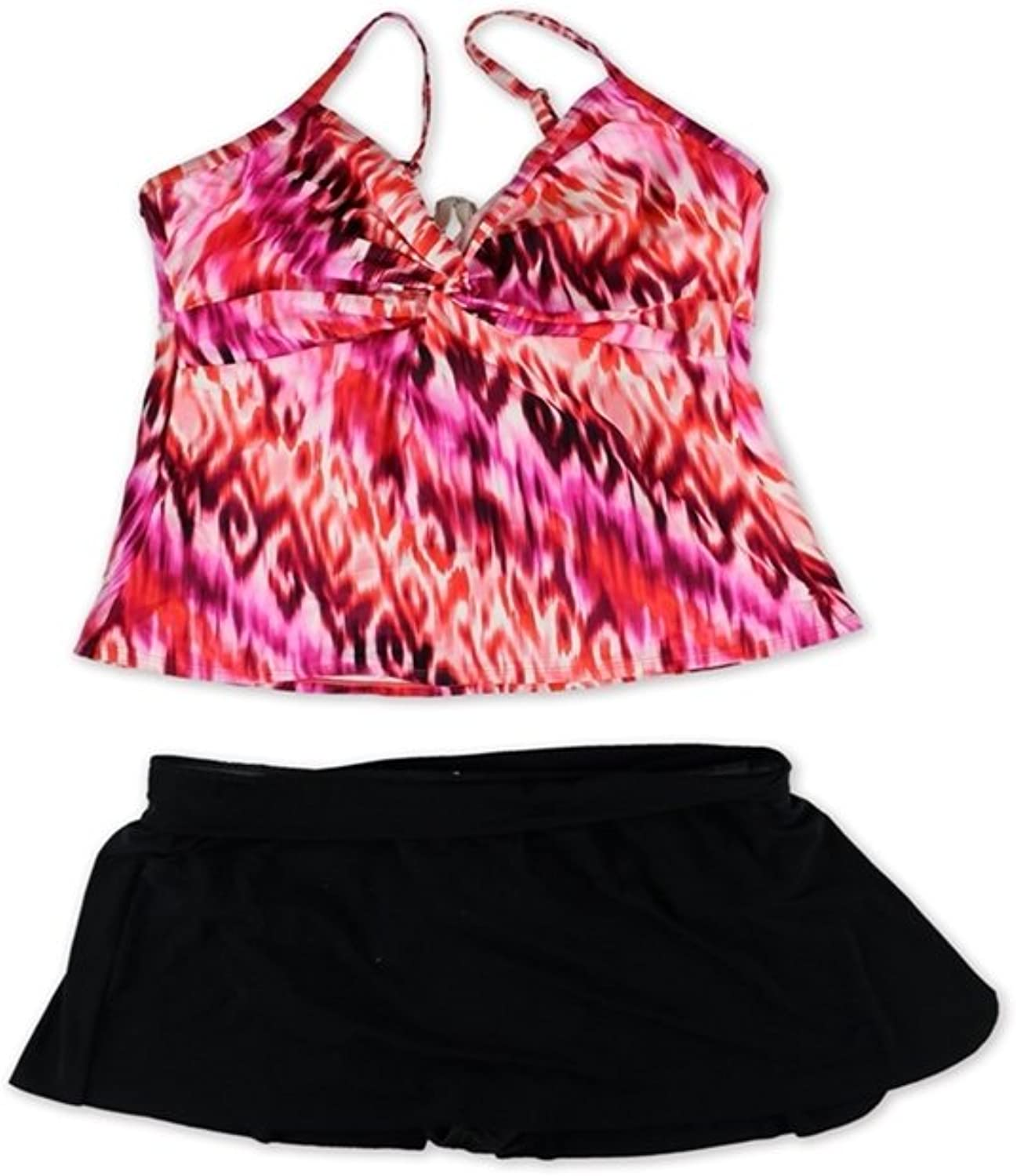 Miraclesuit Womens Madness Roswell Skirted 2 Piece Tankini