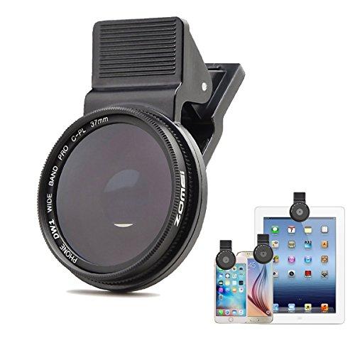 ZoMei Flycoo Vorsatzlinsen Professionelle Zirkular-Polarisationslinse CPL 37 mm Clip-Filter für iPhone 6s Plus 7 Handy für Samsung Galaxy S8 Android Smartphones