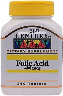 21st Century Folic Acid 400 mcg - 250 Tablets