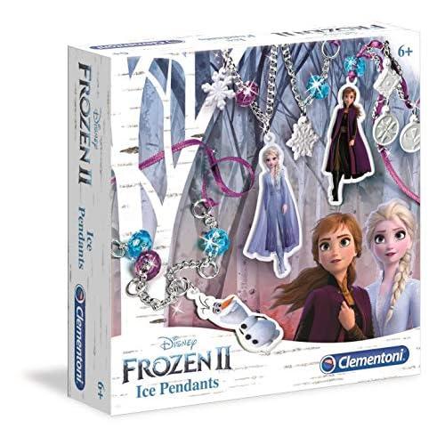 Clementoni- Frozen 2-Frostige Anhänger Disney Gioco, Multicolore, 18567