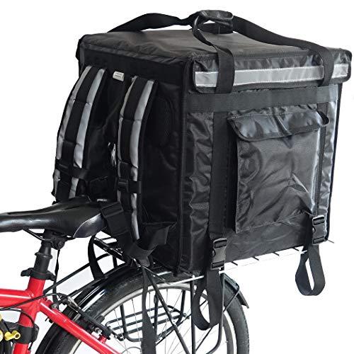 PK-92V: Caja de entrega de alimentos rígida grande para motocicleta, carga superior, 18 pulgadas de largo x 18 pulgadas de ancho x 18 pulgadas de alto
