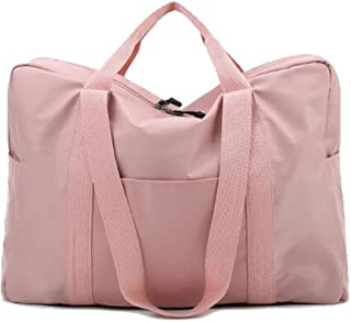 DIEBELLAU Men's and Women's Slung Shoulder Bag New Short-Distance Mobile Travel Bag Yoga Bag Female Duffel Bag Sports Gym Bag (Color : Pink)