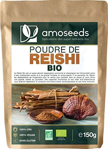 Reishi en Poudre Bio 150G | Slovénie | Immunité, Détente, Antioxydant | Qualité Supérieure