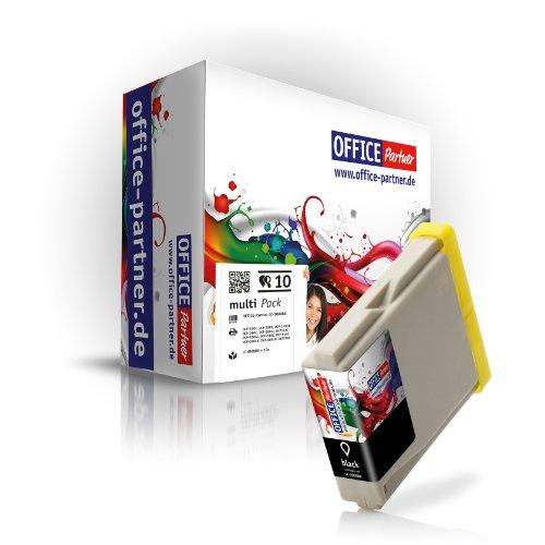 Hermano compatible LC1000 LC970 cartuchos de tinta para Brother DCP-130C/135C/150C/155C/330C/350C/540CN/560CN/750CW/770CW ; MFC-230C/235C/240CN/260C/440CN/465CN/660CN/665CW/680CN/685CW/345CW/885CW/3360/5460CN/5860CN ; Fax-1360 y fax - 2480C, color (D) 10x Black
