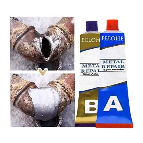 Pegamento de Soldadura mágico,pasta de reparación de metal de soldadura en frío resistente al calor industrial, para bricolaje, hogar, automoción, marina, reparación de manualidades. (50g)