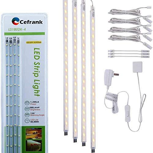 LED キッチン用ライト フィギュア ライト デトルフ 照明 ディスプレイケース用4 LEDストリップキット-ウォームホワイト